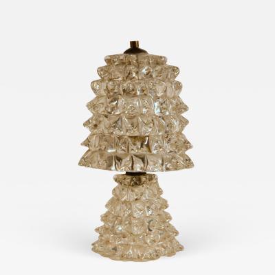 Ercole Barovier Small Ercole Barovier Murano Rostrato Glass Lamp