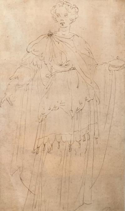 Ercole Setti Study of a Draped Woman