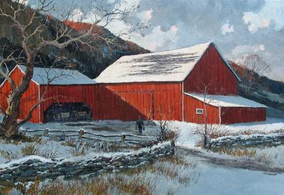 Eric Sloane Barn in Winter