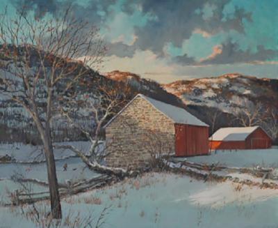 Eric Sloane Eric Sloane 1905 1985 First Snow Painting
