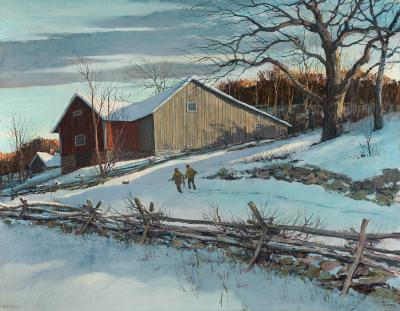 Eric Sloane First Snow 1955