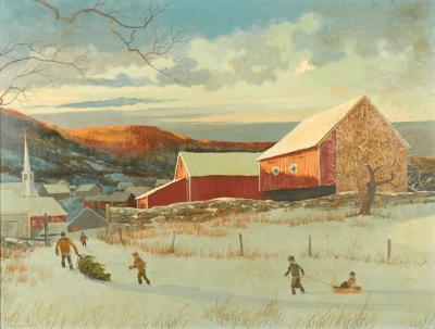 Eric Sloane Winter Landscape