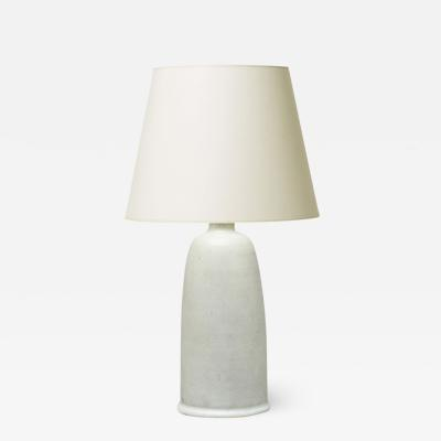 Erich Triller Swedish Modern Table Lamp in Speckled Chalk Glaze by Erich and Ingrid Triller