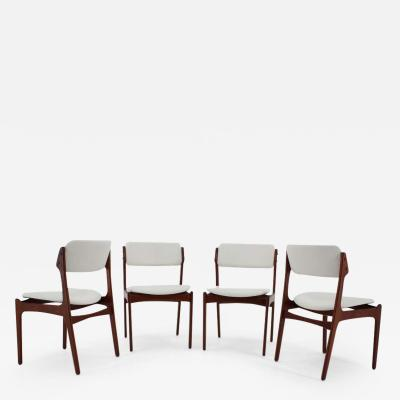 Erik Buch 1960s Erik Buch Set Of Four Teak Dining Chairs