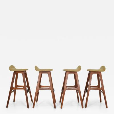 Erik Buch Four Bar Stools Model OD61 Designed by Erik Buch and Manufactured by Odense
