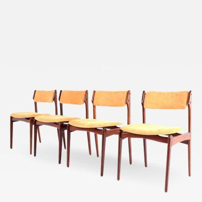 Erik Buch Midcentury Danish Rosewood Dining Chairs by Erik Buch for OD M bler