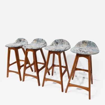 Erik Buch Set of Four Counter Height Stools by Erik Buch 1960s