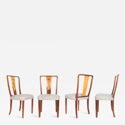 Erik Chambert FOUR SWEDISH ART DECO CHAIRS BY ERIK CHAMBERT