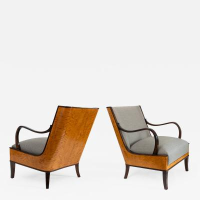 Erik Chambert PAIR OF ERIK CHAMBERT SWEDISH ART DECO LOUNGE CHAIRS