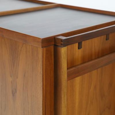 Erik Glasdam Scandinavian Modern Expandable Dry Bar Designed by Erik Glasdam