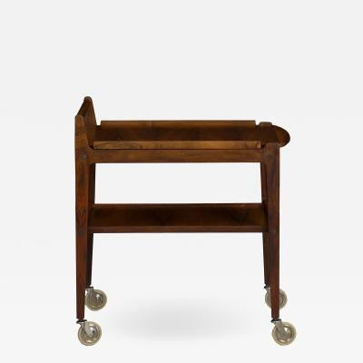 Erik Gustafsson Swedish Mid Century Modern Accent Table Serving Bar Cart by Erik Gustafsson