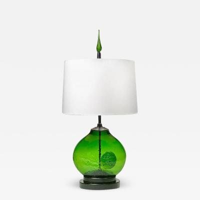 Erik H glund Art Glass Table Lamp by Erik Hoglund