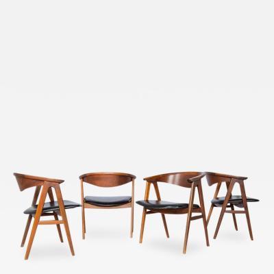Erik Kirkegaard Set of Three Danish Modern Armchairs by Erik Kirkegaard