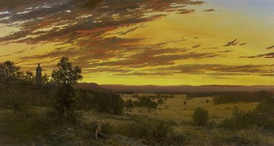 Erik Koeppel Sunset from Little Roundtop Gettysburg