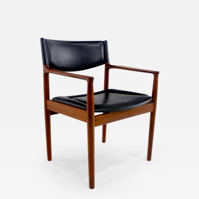 Erik W rts Danish Modern Teak Armchair Designed by Erik Worts