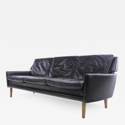 Erik Worts Danish Modern Leather Sofa Designed by Erik Worts