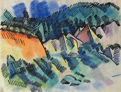 Erle Loran Pastel Landscape by Erle Loran 3