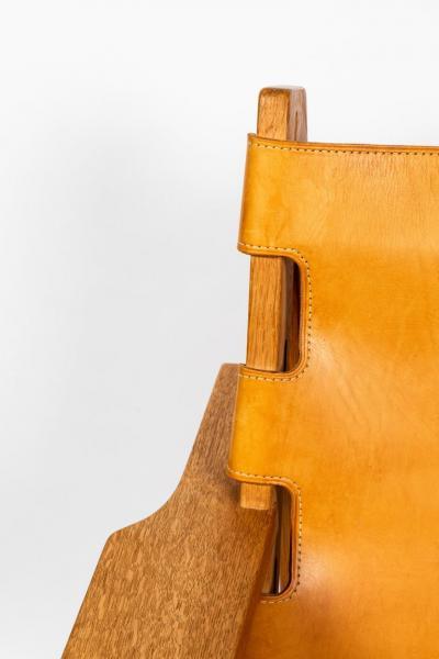 Erling Jessen 1960s Erling Jessen Oak and Leather Lounge Chair