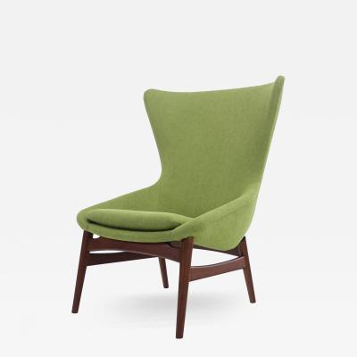 Erling Torvits Danish Modern High Back Chair Designed by Erling Torvits