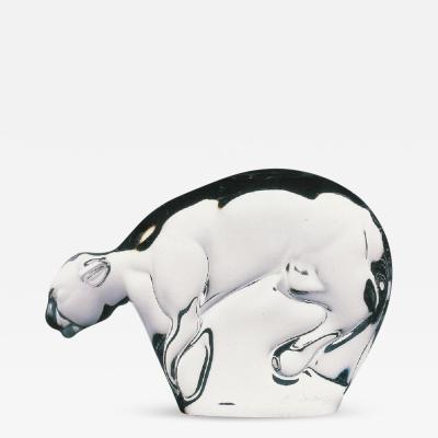 Ermanno Nason Murano Glass Panther