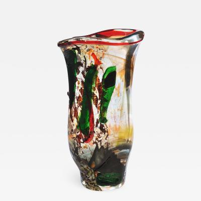 Ermanno Nason Unique Murano Vase Fantasia