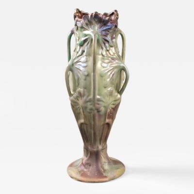Ernest Bussi re French Art Nouveau Ombellif re Ceramic Vase