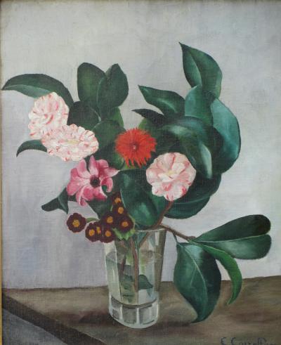 Ernest CORRELEAU La Vase de Camelias