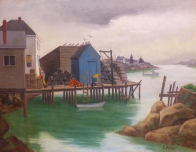 Ernest Fiene Lobstermans Dock Corea Maine