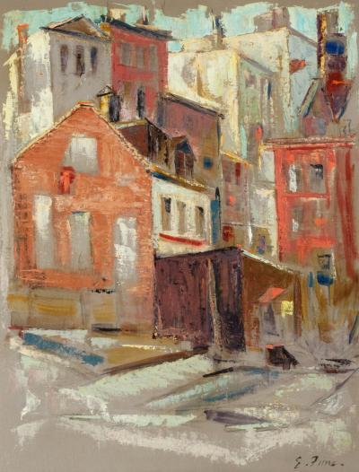 Ernest Fiene New York City Scene