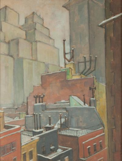 Ernest Fiene Rooftops New York