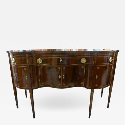 Ernest Hagen New York Federal Style Inlaid Mahogany Sideboard