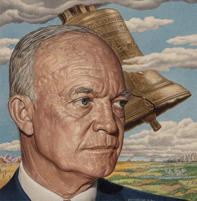 Ernest Hamlin Baker Eisenhower Time magazine cover Time magazine cover July 4 1955 alternate