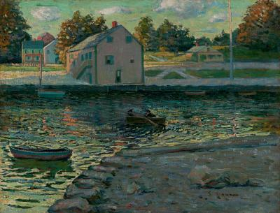 Ernest Lawson Boating on the Connecticut River
