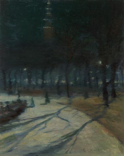 Ernest Lawson Evening Madison Square Park