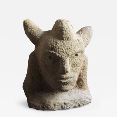 Ernest Popeye Reed Medicine Man Sandstone Sculpture by Ernest Popeye Reed