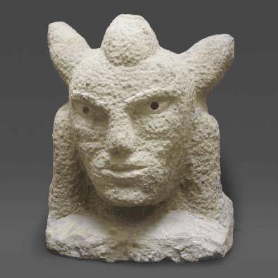 Ernest Popeye Reed Sandstone Indian Head
