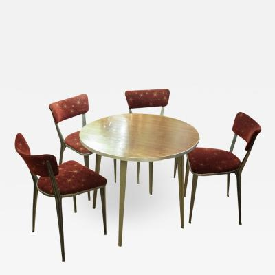 Ernest Race CIRCULAR DINING WITH 4 MATCHING CHAIRS BY ERNEST RACE