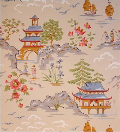 Ernest Wagner Ernest Wagner Japanese Landscape Scene Gouache c 1949