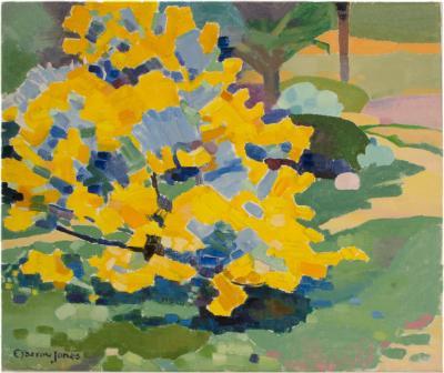 Ernest Yarrow Jones Ernest Yarrow Jones BRITISH 1872 1951 Yellow Bush painting
