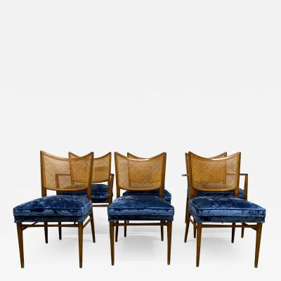 Erno Fabry Set of 6 Erno Fabry Cane Back Dining Chairs