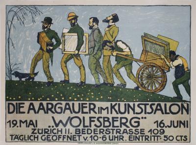 Ernst Bolens Swiss Art Exhibition Poster by Ernst Bolens 1912
