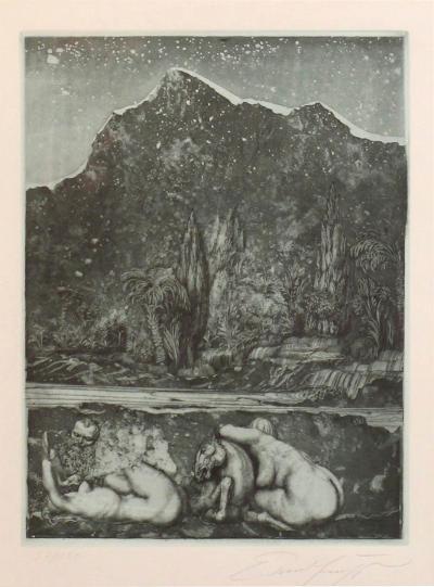 Ernst Fuchs Ernst Fuchs Under the Snow Lilith Print