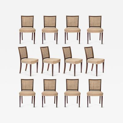 Ernst K hn Ernst K hn Set of 12 Danish Caned Rosewood Side Chairs