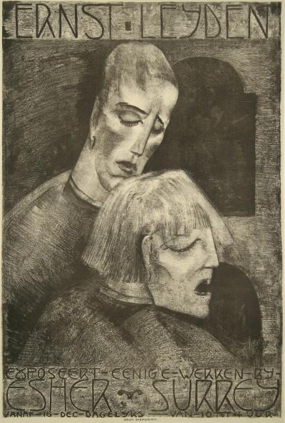 Ernst Oscar Mauritz Van Leyden Dutch Art Exhibition Poster by Ernst Leyden 1922
