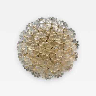 Ernst Palme Extra Large Ernst Palme Floral Glass Sconce Flush Mount
