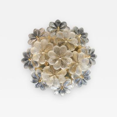 Ernst Palme Medium Ernst Palme Floral Glass Sconce Flush Mount