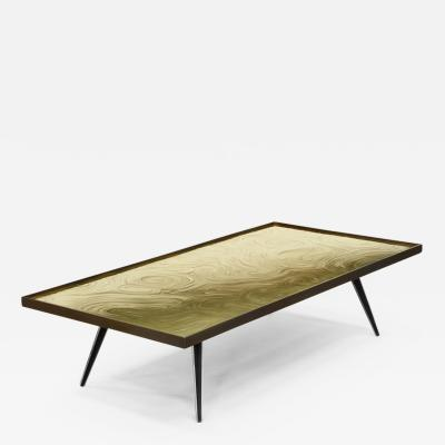 Erwan Boulloud Cholesterique Contemporary Brass and Black Steel Coffee Table by Atelier EB