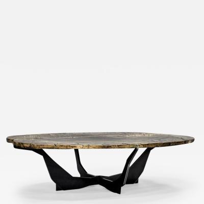 Erwan Boulloud Contemporary Cast Bronze Black Steel Coffee Table by Atelier Erwan Boulloud