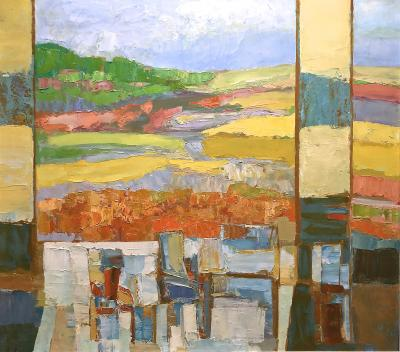 Erwin Wending Vibrant View Of The Landscape With Yellow Fields
