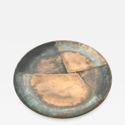 Esa Fedrigolli Esa Fedrigolli Bronze Icaro Large Italian Plate
